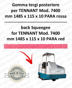 7400 Bavette ARRIERE PARA Rouge pour autolaveuses TENNANT