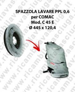 Brosse de laver  in PPL 0,60 DIMENSIONS diamétre  445 X 120,4 3 pioli pour autolaveuses COMAC