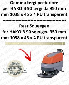 B 90 ( suceur long 950 mm) Bavette ARRIERE pour autolaveuses  HAKO