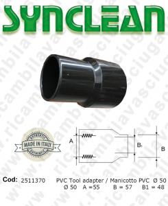 Manche pour tuyaux aspiration PVC diamétre 50 valide pour aspirateurs Ghibli AS600, Maxiclean mx600, cod: 2511370