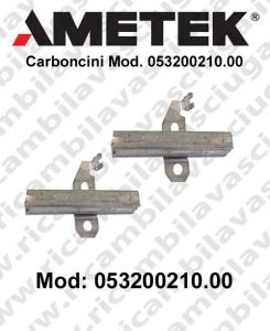 Couple du Carbon moteur aspiration pour motori Ametek  Cod: 053200210.00