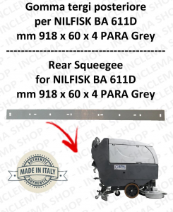 BA 611D Bavette ARRIERE pour autolaveuses  NILFISK