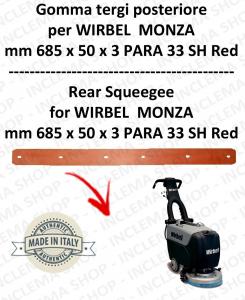 MONZA 385 B Bavette ARRIERE pour autolaveuses  WIRBEL