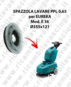 Brosse de laver  in PPL 0,65 DIMENSIONS diamétre  355 x 121 pour autolaveuses EUREKA mod. E36