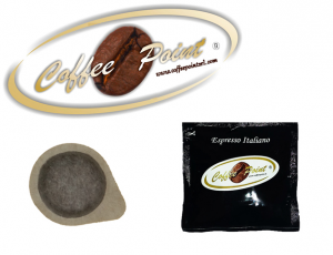 Cialda caffè dm 38mm Coffee Point rossa 150 pz
