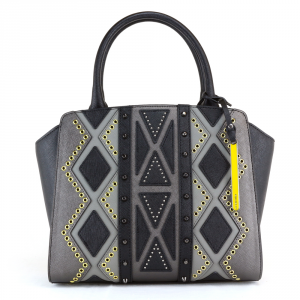 Hand and shoulder bag Cromia PERLA DIAMOND 1403396 NERO+POLVERE