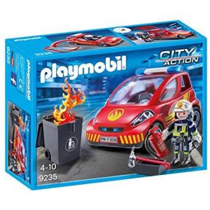 PLAYMOBIL POMPIERE CON AUTO 9235