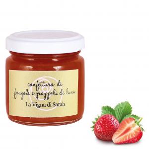 Confettura di fragole e grappoli di luna