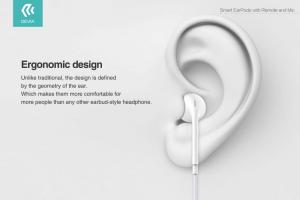 Auricolari con microfono e controllo volume EarPods universali