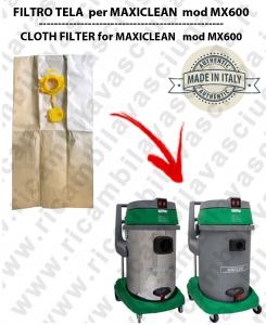 SACCO CARTA litri 19 con tappo per MAXICLEAN mod MX 600 conf. 10 pezzi - aspirapolvere SYNCLEAN