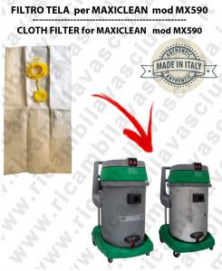 SACCO CARTA  litri 19 con tappo per MAXICLEAN mod MX 590 conf. 10 pezzi - aspirapolvere SYNCLEAN