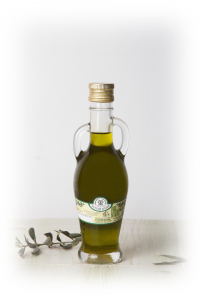 OLD EXTRAVERGINE OIL ANFORA CARSULAE WITH HANDLES 0,25 LT.