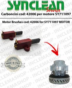 COPPIA di Carboncini Motore aspirazione 2 per cod:42006 per motore SY711097