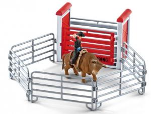 SCHLEICH FARM LIFE TORO DA RODEO CON COWBOY 41419