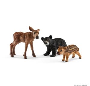 SCHLEICH ANIMALI DEL BOSCO CUCCIOLI 41457