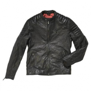 Giacca moto pelle rev'it red hook nera