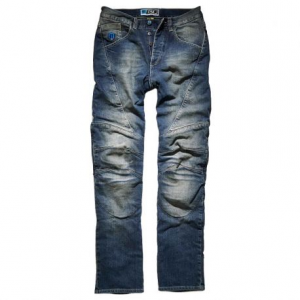 PROMO JEANS DALLAS Motorcycle Man Jeans - Mid Blue