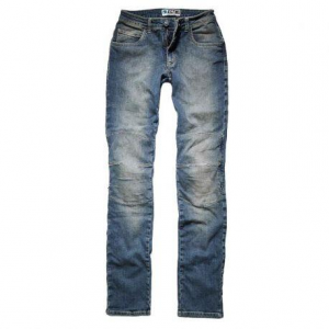 PROMO JEANS MILANO Motorcycle Woman Jeans - Mid Blue