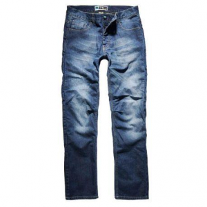 PROMO JEANS RIDER Motorcycle Man Jeans - Mid Blue
