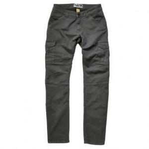 PROMO JEANS SANTIAGO Motorcycle Cargo Man Pants - Grey
