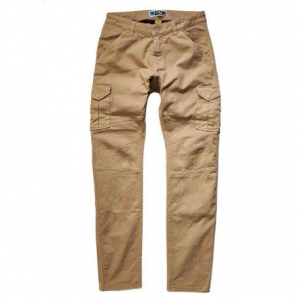 PROMO JEANS SANTIAGO Motorcycle Cargo Man Pants - Sand Brown