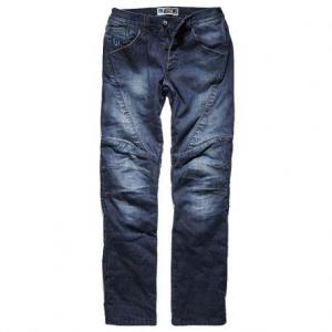 PROMO JEANS TITANIUM Motorcycle Man Jeans - Mid Blue