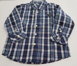 Camicia blu e bianca