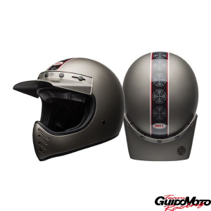 Casco cross BELL MOTO-3 Independent Matt Titanium Tg. XXL