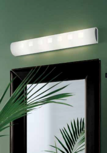 CITY applique specchio cm60 colore arancio LED