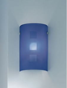 Applique CITY 35 blu E14 LED