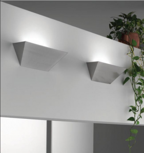 Applique parete HUGO cm35 grigio argento LED 10watt