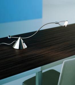 Lampada da scrivania MICRO nichel spazzolato G9| LED