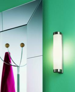 Lampada da specchio NAGA 50 acciaio spazzolato | LED