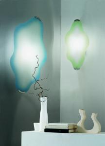 Applique o plafoniera NUVOLA cm64 in vetro ambra | LED