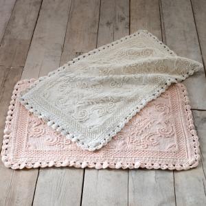 Asciugamani e tappetini shabby chic per il tuo Bagno Blanc Mariclo