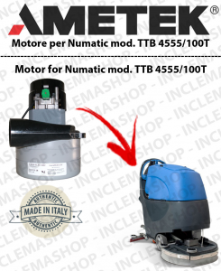 TTB 4555/100T  MOTORE LAMB AMETEK di aspirazione for scrubber dryer NUMATIC