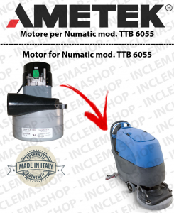 TTB 6055  MOTORE LAMB AMETEK di aspirazione for scrubber dryer NUMATIC