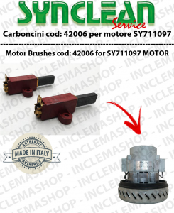 COPPIA di Carboncini Vacuum motor 2 for cod:42006 for motore SY711097