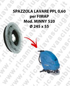 Cepillo Standard  para fregadora FIMAP Model MINNY 520 ø 245 x 55 PPL 0,60