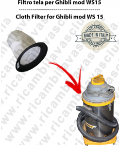 Canvas filter for vacuum cleaner GHIBLI model WS15