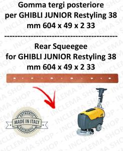 JUNIOR 38 RESTYLING Bavette ARRIERE pour autolaveuses GHIBLI