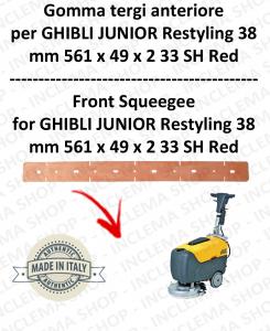 JUNIOR 38 RESTYLING goma de secado delantera para fregadora  GHIBLI