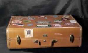 Valigia vintage Samsonite marrone