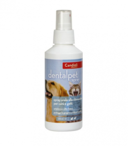 DENTALPET SPRAY COLLUTTORIO A BASE DI CLOREXIDINA PER CANI E GATTI 125 ML