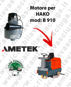 B 910 MOTORE LAMB AMETEK di aspirazione per lavapavimenti HAKO