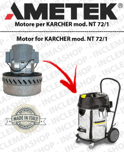 NT 72/1 Ametek Vacuum Motor  for vacuum cleaner KARCHER