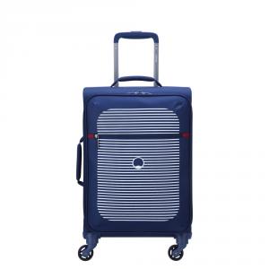 Delsey - Dauphine 3 - Valigia trolley da cabina 4 ruote 55 cm blu cod. 2249801