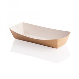 Vaschetta per fritti in cartoncino kraft - rettangolare