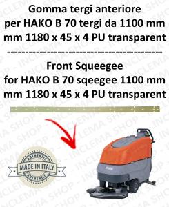 B 70 ( tergi da 1100 mm) GOMMA TERGI anteriore per lavapavimenti  HAKO