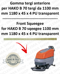 B 70 ( squeegee lenght1100 mm) squeegee rubber front for scrubber dryer  HAKO
